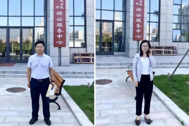 7月29日上午,李晓东律师、吴培培律师前往信阳市中级人民法院提交黄某等人诈骗案件辩护意见并与承办法官沟通开庭一事。