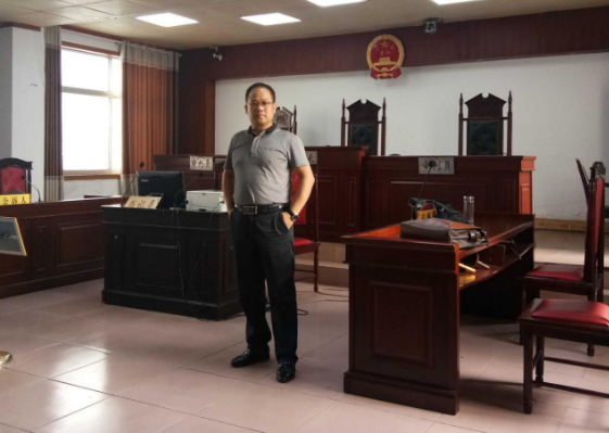 李峰主任赴固始人民法院为非法采矿案件开庭