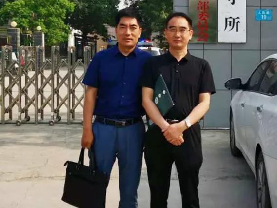 黄昌军律师、杜心泉实习律师前往长垣县看守所会见涉嫌开设赌场罪的刘某某。